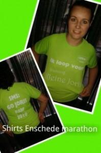 Shirt voor alle marathon lopers!!! Succes allemaal!!!