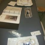De voorbereidingen op de MIBG vloeistof